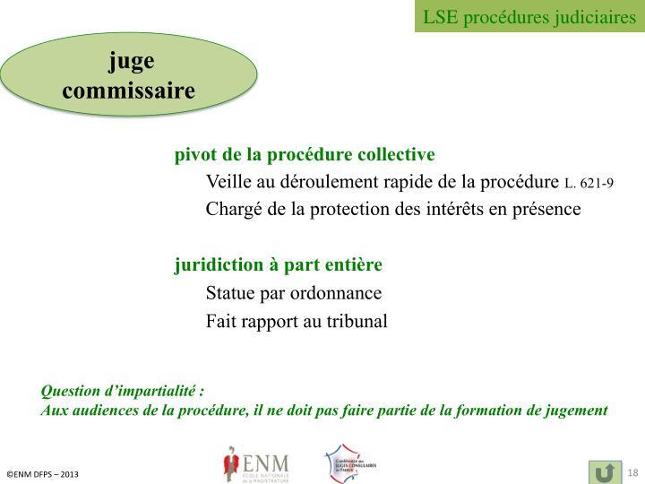 LSE procédures judiciaires