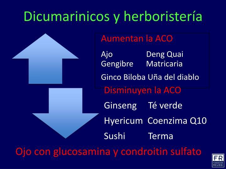 Dicumarinicos y herboristería