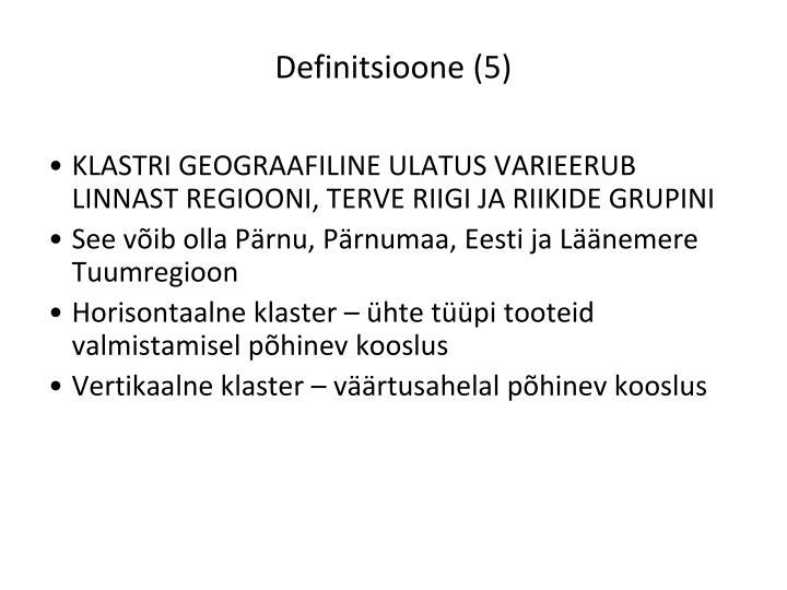 Definitsioone (5)