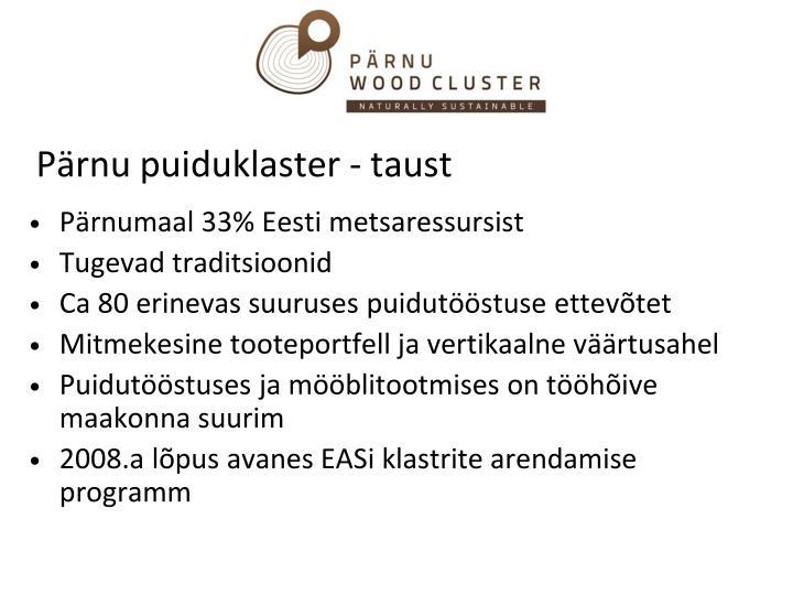 Pärnu puiduklaster - taust