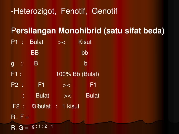 Heterozigot,  Fenotif,  Genotif
