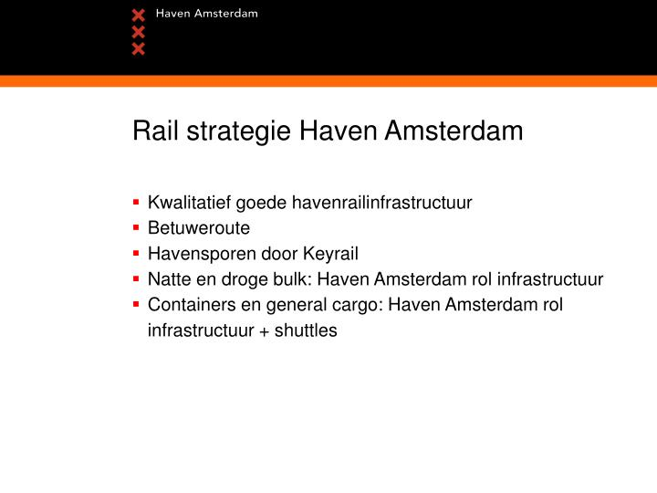 Rail strategie Haven Amsterdam