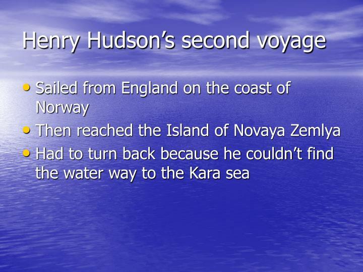 Henry Hudson's second voyage