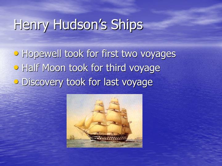 Henry Hudson's Ships