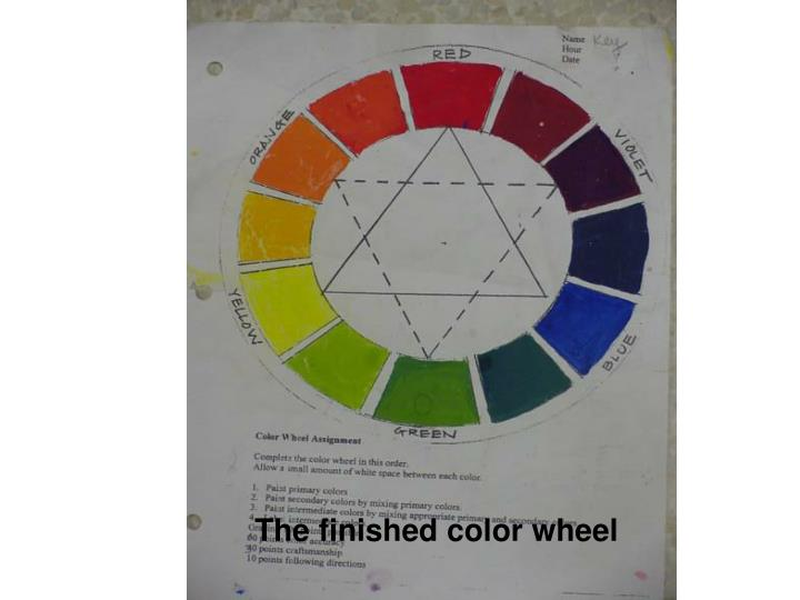 The finished color wheel