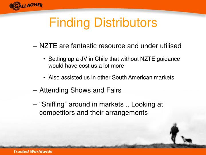 Finding Distributors