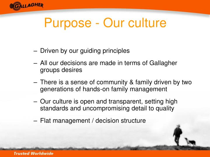 Purpose - Our culture