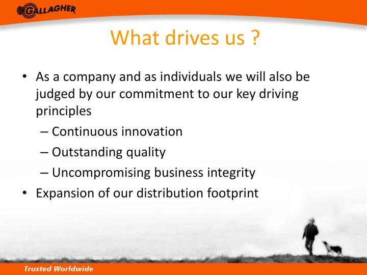 What drives us ?
