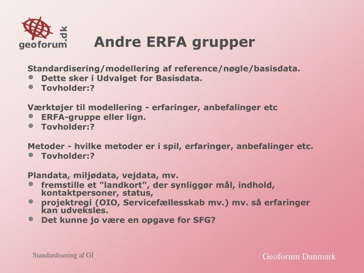 Andre ERFA grupper