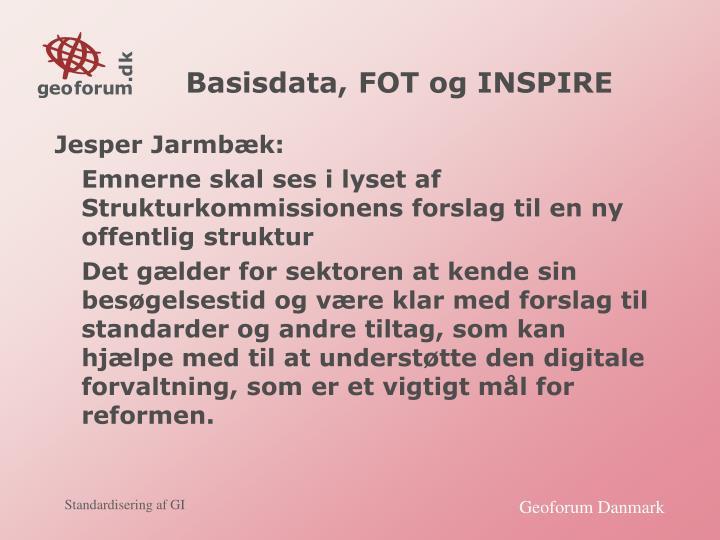 Basisdata, FOT og INSPIRE