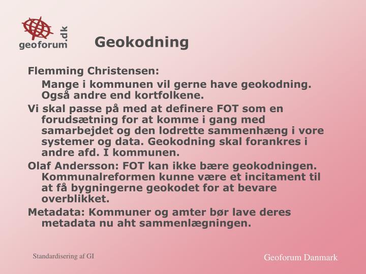 Geokodning