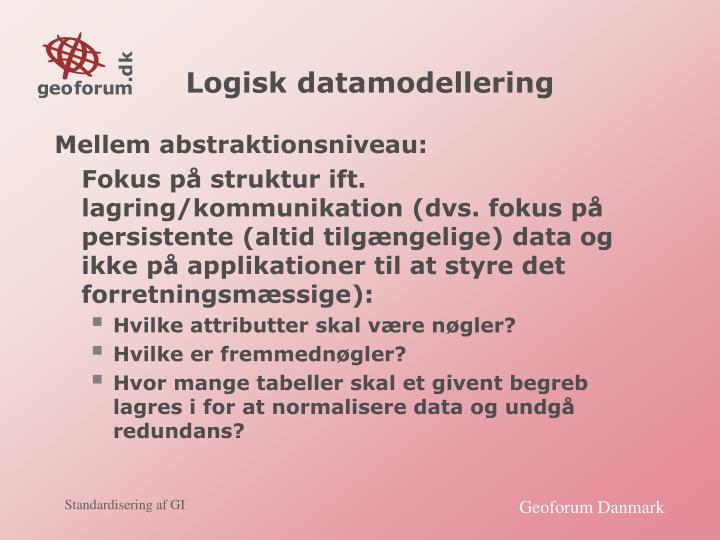 Logisk datamodellering