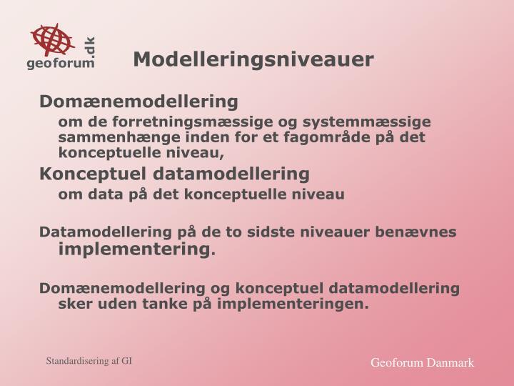 Modelleringsniveauer