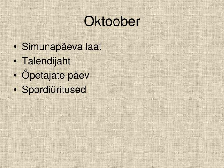 Oktoober
