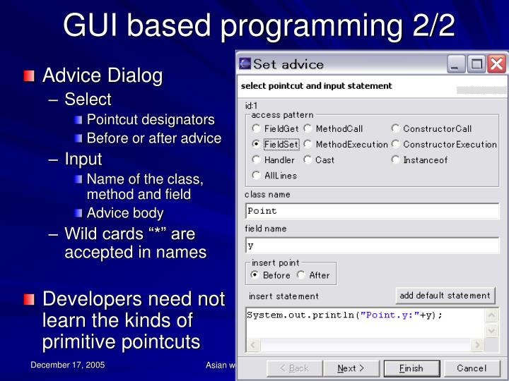 GUI based programming 2/2