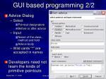 gui based programming 2 2