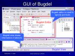 gui of bugdel