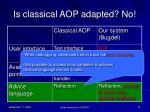is classical aop adapted no3