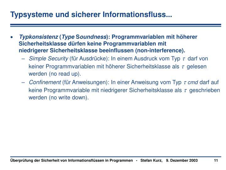 Typsysteme und sicherer Informationsfluss...