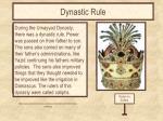 dynastic rule