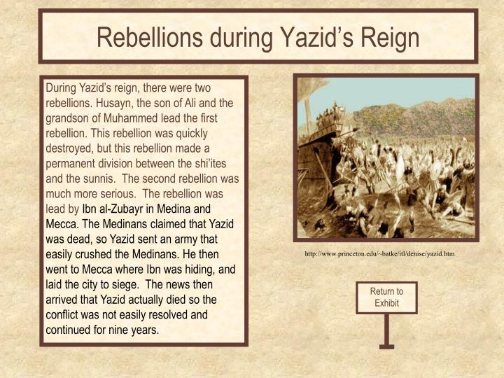 Rebellions during Yazid's Reign