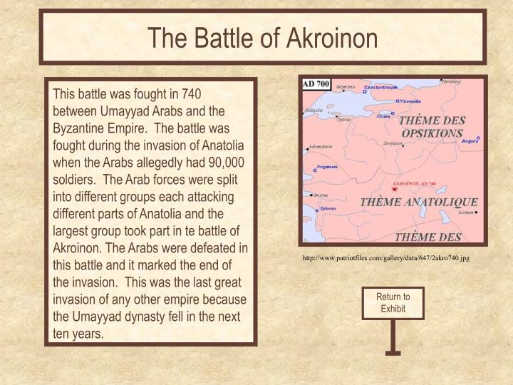 The Battle of Akroinon