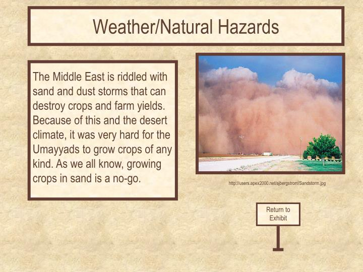 Weather/Natural Hazards