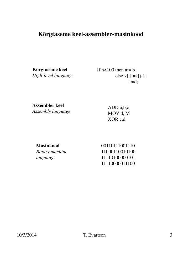 Kõrgtaseme keel-assembler-masinkood