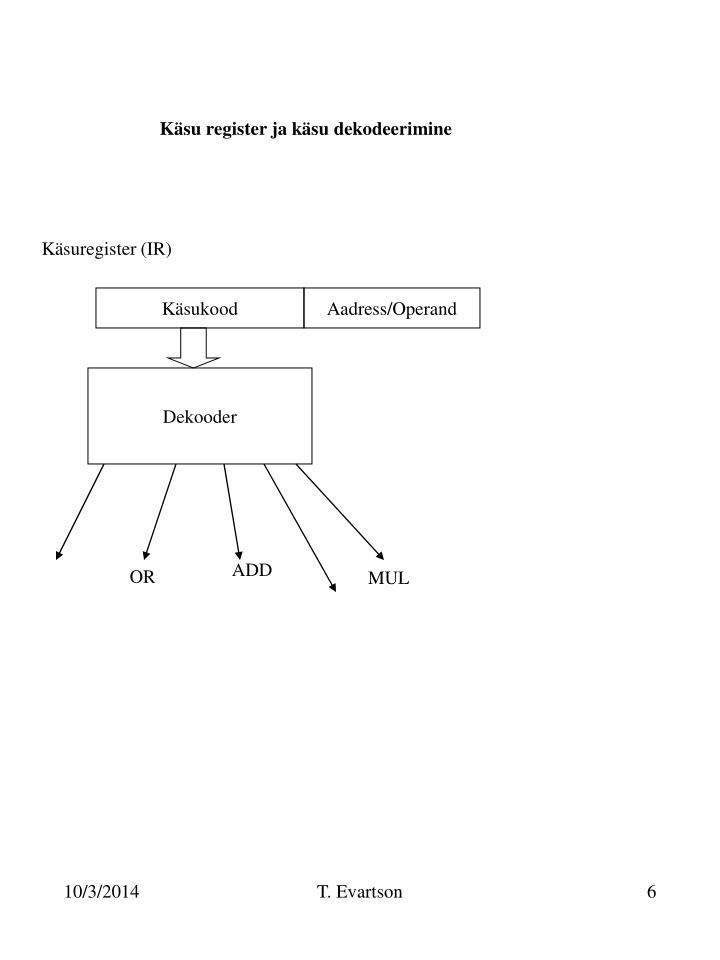 Käsu register ja käsu dekodeerimine