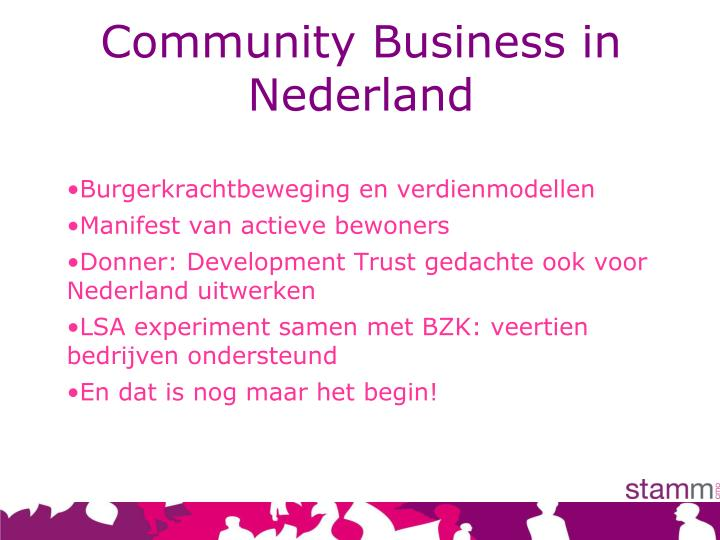 Community Business in Nederland