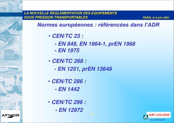 LA NOUVELLE REGLEMENTATION DES EQUIPEMENTS