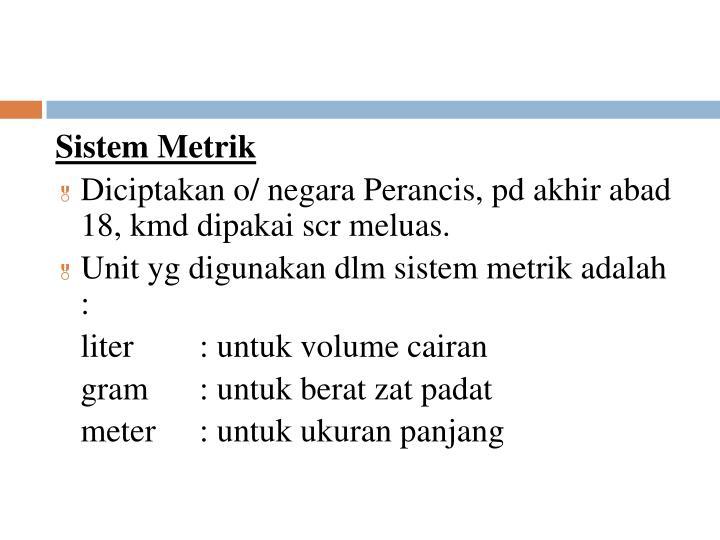 Sistem Metrik