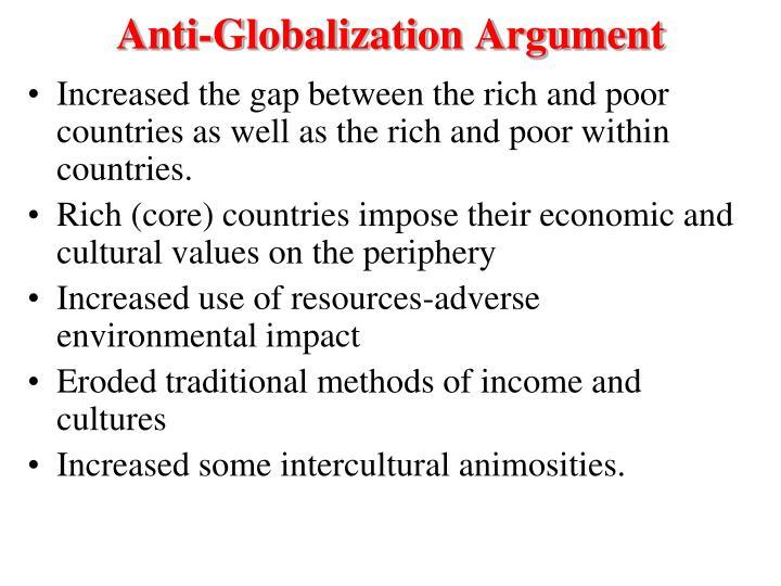 Anti-Globalization Argument