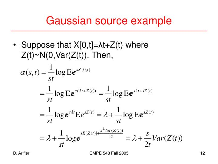 Gaussian source example