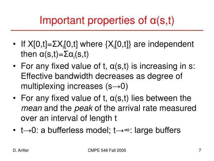 Important properties of