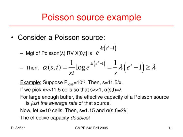 Poisson source example