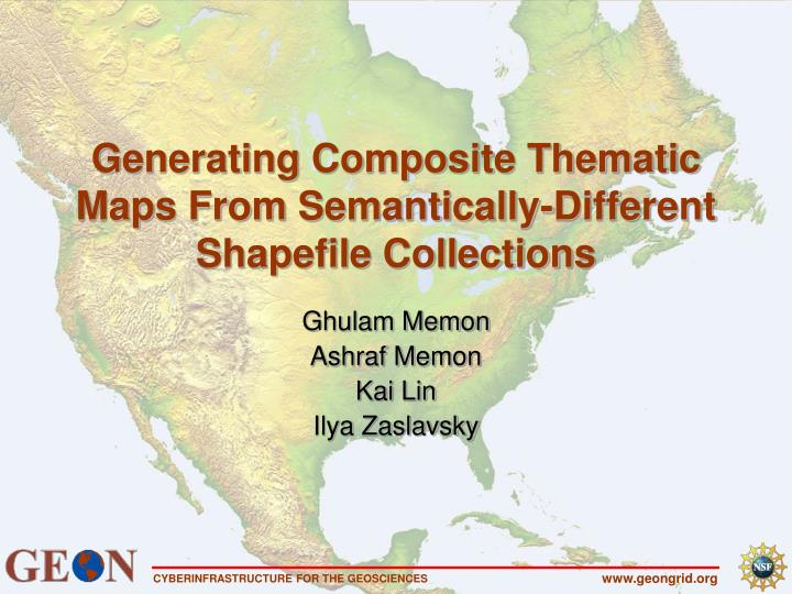 Generating composite thematic maps from semantically different shapefile collections