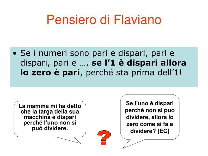 Pensiero di Flaviano