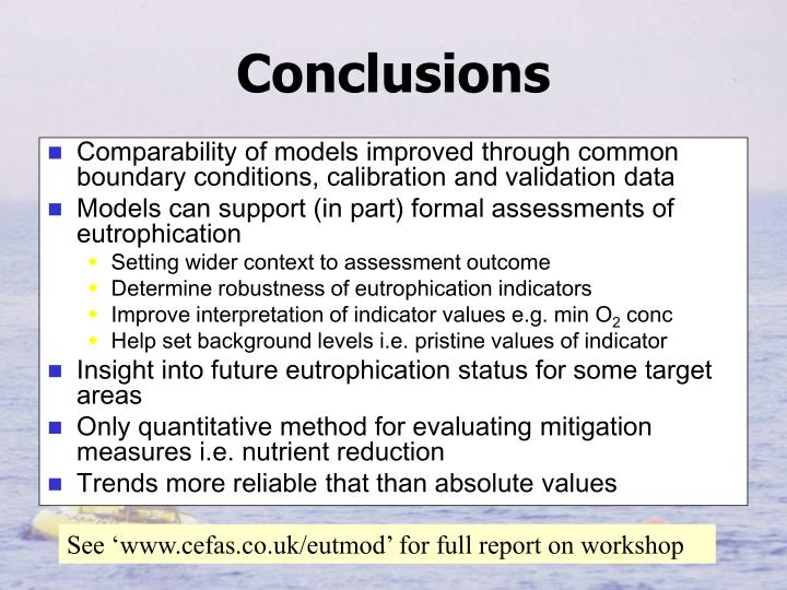 Comparability of models improved through common boundary conditions, calibration and validation data