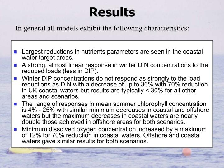 Largest reductions in nutrients parameters are seen in the coastal water target areas.