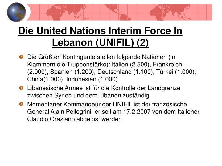 Die United Nations Interim Force In Lebanon (UNIFIL) (2)