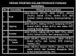peran propinsi dalam produksi pangan nasional