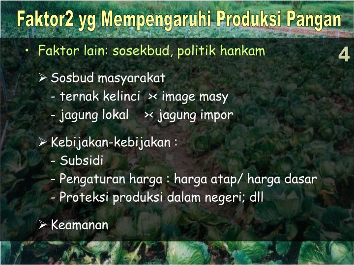 Faktor2 yg Mempengaruhi Produksi Pangan