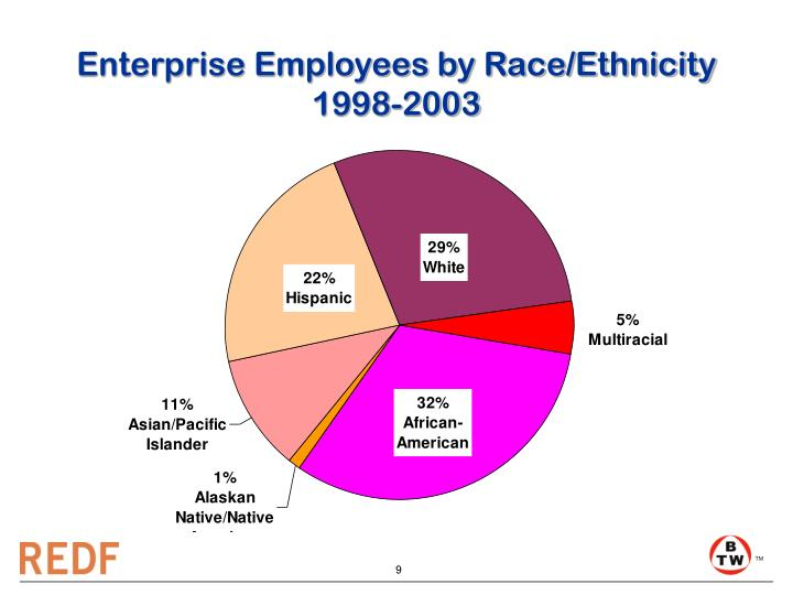 Enterprise Employees by Race/Ethnicity