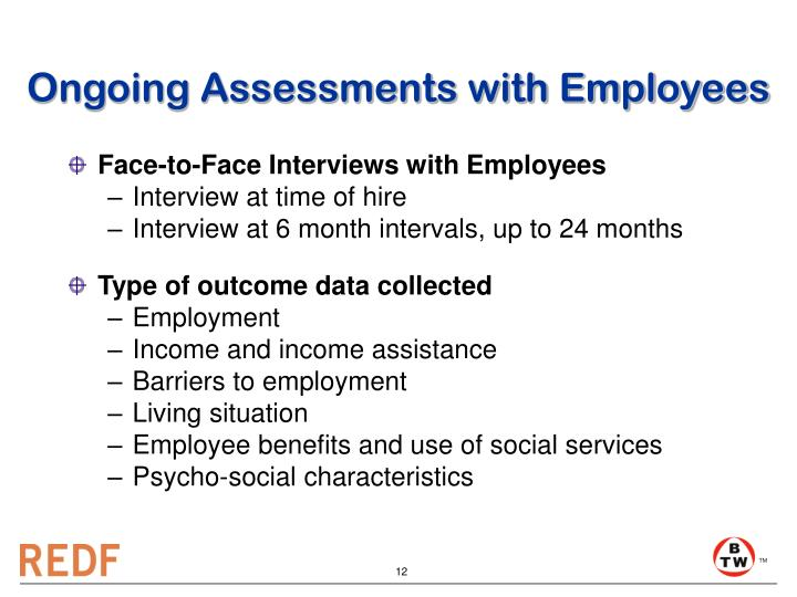 Ongoing Assessments with Employees