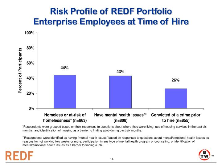 Risk Profile of REDF Portfolio