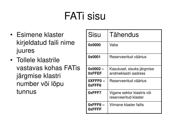 FATi sisu