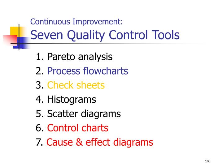 Continuous Improvement: