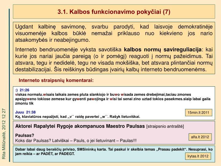 3.1. Kalbos funkcionavimo pokyčiai (7)
