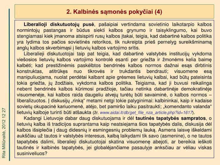 2. Kalbinės sąmonės pokyčiai (4)